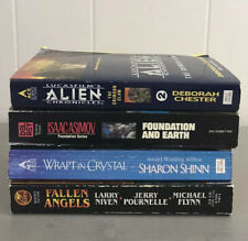 Lot Of 4 Science Fiction PB Books ALIEN, Wrapt in Crystal - ACE DEL RAY - ASIMOV