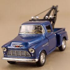 1955 Chevrolet Stepside Tow Truck 1 32 Scale Model Car Die Cast Orange Pick up