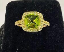 Peridot,10k Gold ,peridot Gemstone Ring,size6