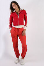 Adidas Zipper Side Vintage Womens Tracksuit Bottoms - L,XL Red - TB287
