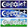 Coexist Bumper Sticker Decal Car Vehicle. Hindu Christian Hebrew Islam Peace