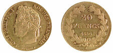 20 Francs Or LOUIS PHILIPPE I - 1836 W LILLE - RARE