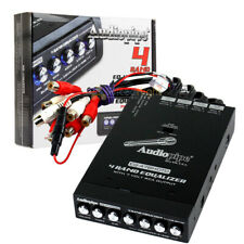 4 Band Graphic Equalizer 7 Volt Line Driver Flush Mount Half-Din Eq-47Bmoto