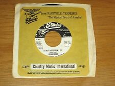 """PROMO COUNTRY 45 RPM - JOHNNY BOND - STARDAY 893 - """"IT ONLY HURTS WHEN I CRY"""""""