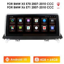 """For BMW X5 E70 X6 E71 E72 2007-2010 10.25"""" Android Stereo GPS Satnav Radio 4+64G"""
