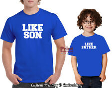 LIKE FATHER & LIKE SON 2 T-SHIRT PACK Dad Fathers Day Present Gift Cotton