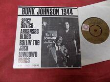 "BUNK JOHNSON Spicy advice 7"" EP JAZZ BLUES"