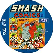 70 SMASH COMICS - VINTAGE BRITISH COMIC BOOKS - PDF FILES - ON DVD - SUPERHEROES