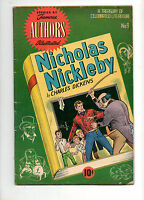 Stories by Famous Authors #9 NICHOLAS NICKLEBY by CHARLES DICKENS Fn- 5.5 1950