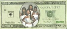 "Destiny's Child ""Bills Bills Bills� Promo $20 Bill 1999 Beyonce Kelly Rowland"