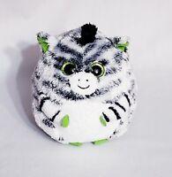 "TY Beanie Baby Ballz - OASIS the Zebra 5"" Plush Ball Stuffed Animal Toy"