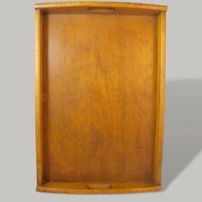 Vintage Holztablett zum Servieren Tablett aus Mid Century 50er 60er Jahre Braun