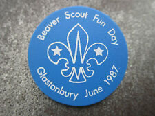 Beaver Scout Fun Day 1987 Boy Scouts Scouting Plastic Pin Badge Button (L10B)