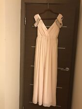 ASOS TFNC Peach Nude Maxi Bridesmaid Dress - Size 8