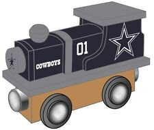 Dallas Cowboys Wooden Toy Train [NEW] NFL Wood Christmas Kids Boys Gift Set
