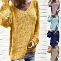 Sweater Knitwear Tops Loose Women's Knitted Pullover Jumper Long Sleeve