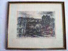 Lithographie Paul Welsch (1889 - 1954) - Paysage du soir 14/20