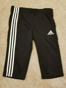 adidas Youth Kids Black Clima365 Capri Pants, Size Large