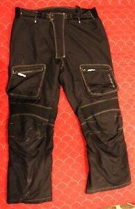 Mens Joe Rocket Ballistic 5.0 Armored Black XL Motorcycle Pants Padded