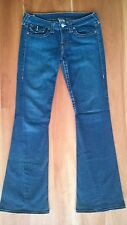 "True Religion Joey Flare Jeans Sz. 30  w/ 34"" Inseam Twisted Seam EUC"