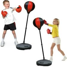 Unisex Kids Training Workout Sports Play Set Boxing Stand Punch Bag With Gloves