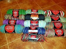 Red Heart 4 Medium Acrylic Variegated Yarn 5-6oz Choose Your Color New Colors