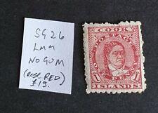 Cook Islands SG26 LMM - No Gum (rose red)