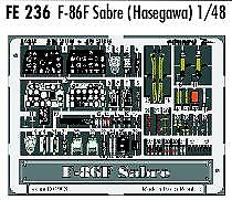 Eduard 1/48 F-86F Sabre PRE-PAINTED IN COLOUR For Hasegawa  # FE236