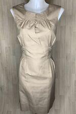NOA NOA • Beige Cotton Linen Blend Sheath Dress • Size Large