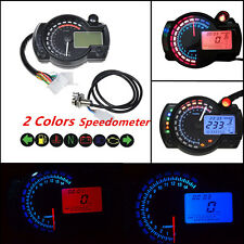 15000rpm Motorcycle LCD Digital Dual Color Speedometer Tachometer Odometer Gauge