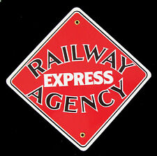 Railway Express Agency Railroad Porcelain Sign #57-1540