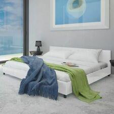 vidaXL Bedframe Kunstleer Wit 180x200 cm Ledikant Bedframe Bed Bedden Frame