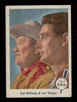 1959 Fleer Ted Williams #70 Ted Williams and Jim Thorpe