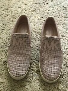 Mickael Kors Women's Beige/Pink Slide Shoes Size 7M
