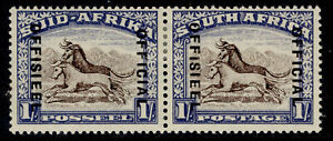 SOUTH AFRICA GVI SG O38, 1s brown & chalky blue, M MINT. Cat £18.