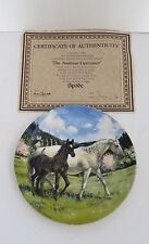 Spode 1988 Limited Edition Porcelain Plate-The Austrian Lipizzaner-Signed-Number
