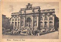 Cartolina - Postcard -  Roma - Fontana di Trevi - 1942