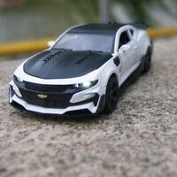 Chevrolet Camaro New Bumblebee 1:32 Model Cars Sound&Light Alloy Diecast White