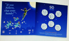 The Peter Pan 50p collection ,Peter Pan ,Hook ,Wendy & Nana Tinker Bell LAST ONE