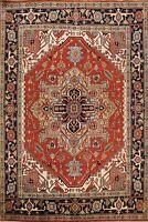 Geometric Indo Heriz Oriental Area Rug Dining Room Hand-knotted Wool Carpet 8x10