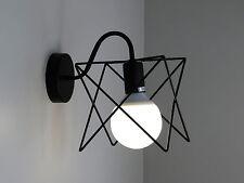 lampada da parete applique industrial vintage nero classico rustico country 20W