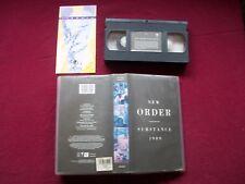 NEW ORDER - SUBSTANCE - 1989 UK VHS/PAL Video Cassette.  VVD627 - VGC TESTED