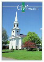 Postcard Old South Union Church, Weymouth MA M6