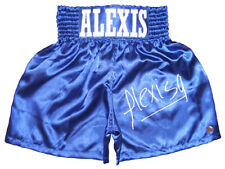 ALEXIS ARGUELLO HAND SIGNED AUTOGRAPHED BOXING TRUNKS WITH PROOF AND COA