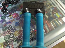 ODI LONGNECK FLANGED AQUA BLUE BMX BICYCLE SCOOTER FIXED GRIPS