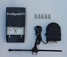 Amplificateur TNT complet , JOHANSSON extérieur - intérieur KIT 7322 + fiches F
