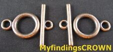 40sets Antiqued copper circle toggle clasps FC273