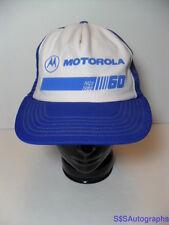 Rare Vintage 1988 Motorola Advertising Snapback Hat Cell Phone Radio Computers