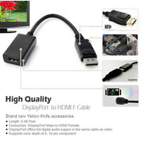 YellowKnife 1920X1200p Gold Plated DisplayPort DP to HDMI Male to Female Adapter