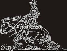 Hotfix Strass Bügelbild Bügelmotiv Cowboy Western Sliding 120924 Karostonebox